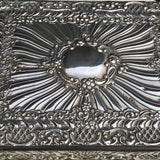 Large 19th Century Silver Jewellery Box with Bramar Lock - Top View - 9