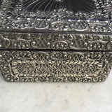 Large 19th Century Silver Jewellery Box with Bramar Lock - Detail View - 7
