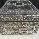 Large 19th Century Silver Jewellery Box  with Bramar Lock - Detail View - 8