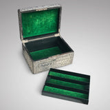 Large 19th Century Silver Jewellery Box with Bramar Lock - main View - 1