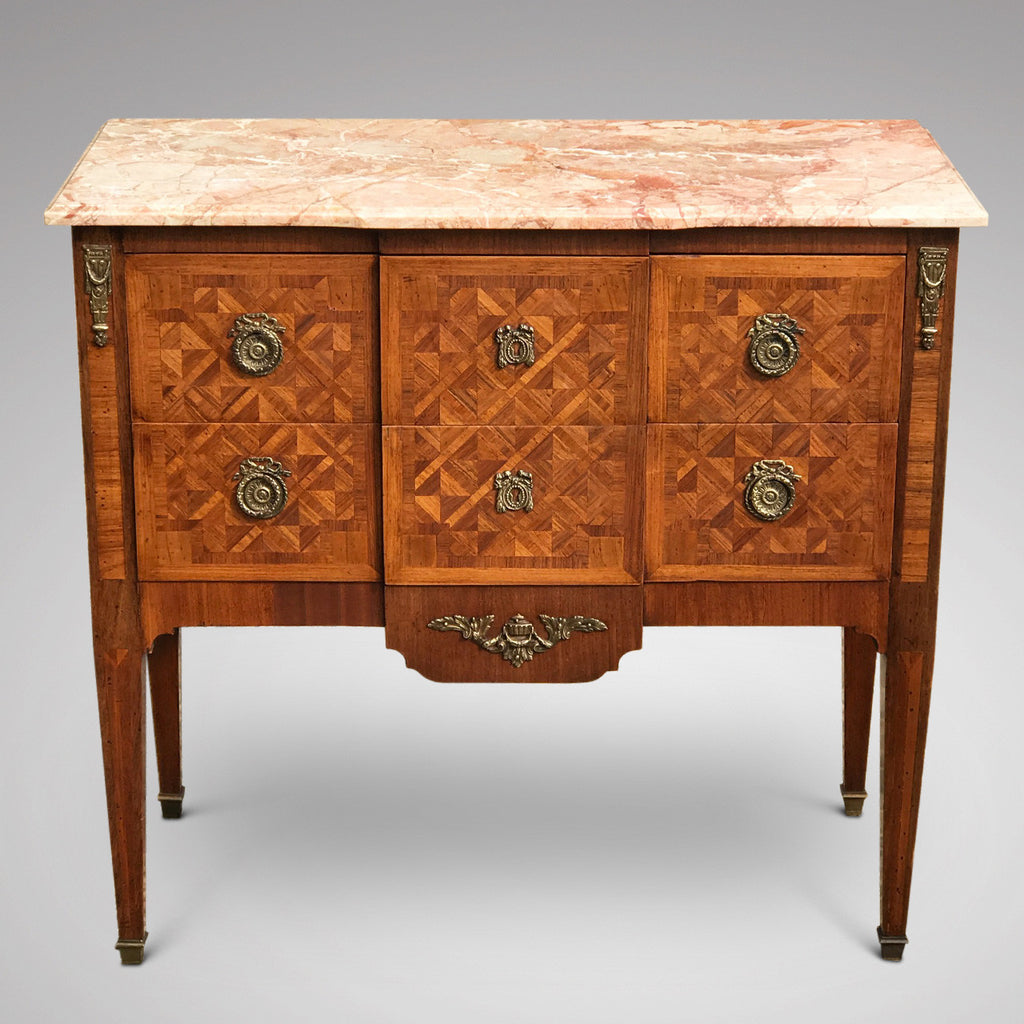 19th Century Walnut & Kingwood Marble Topped Commode - Main Front View -1