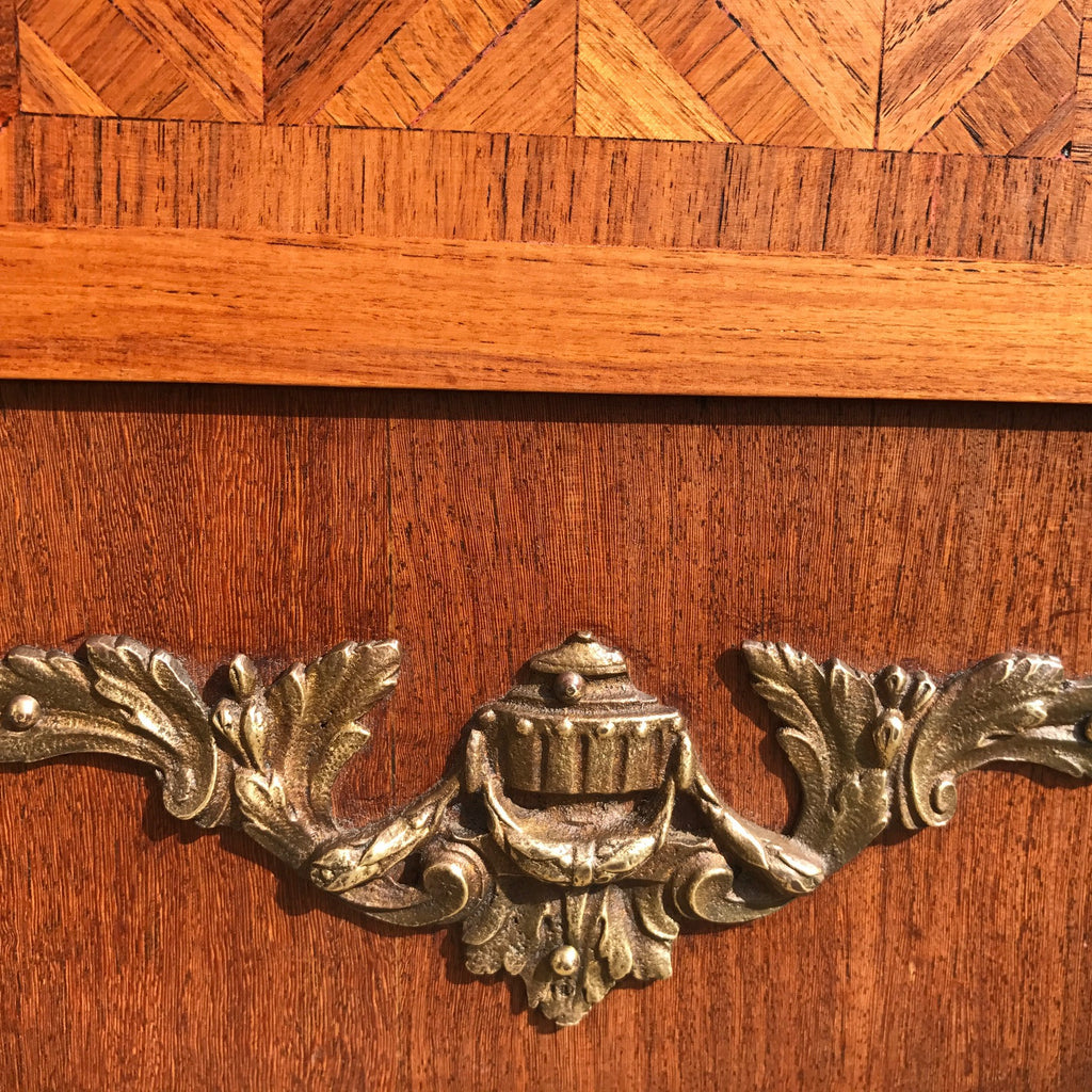 19th Century Walnut & Kingwood Marble Topped Commode - Ormolu Detail - 4