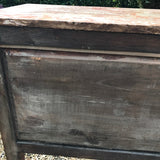 19th Century Walnut & Kingwood Marble Topped Commode - Back View -7