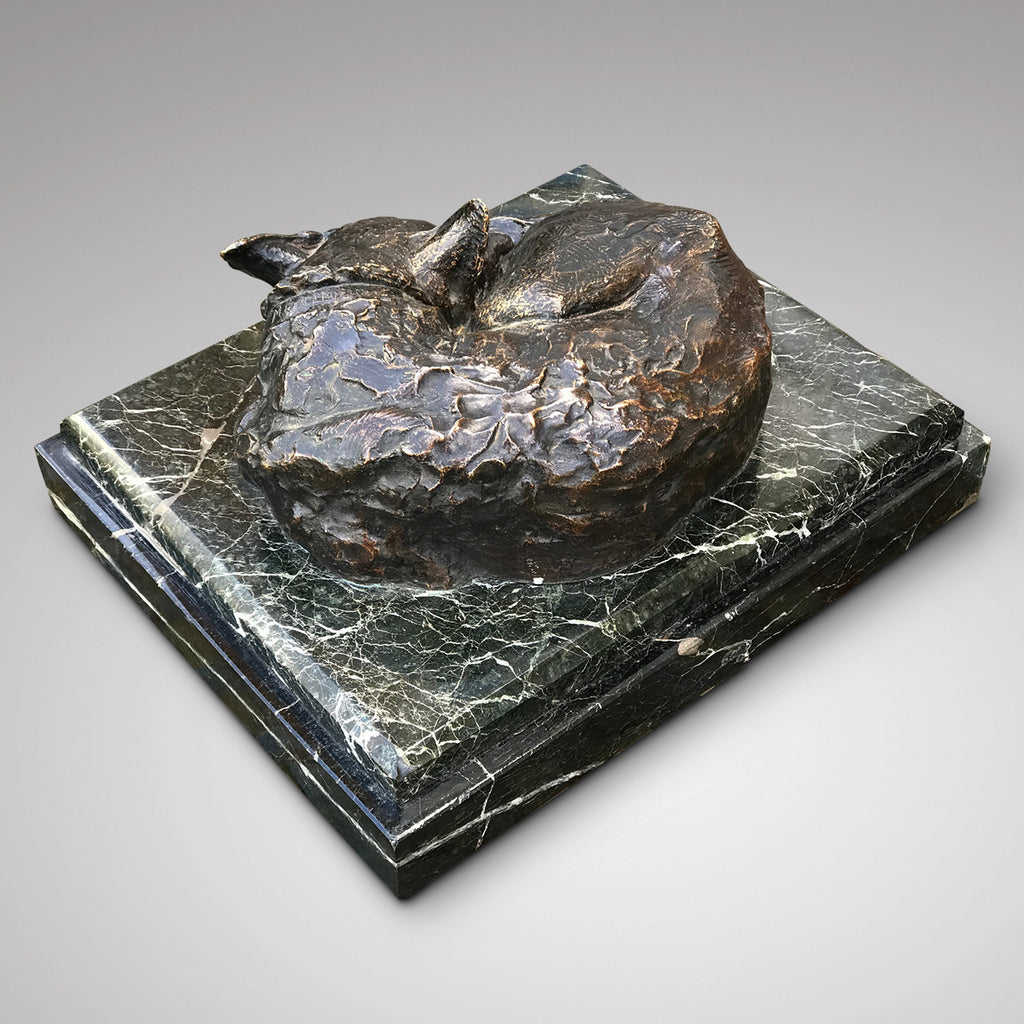 Bronze Dog Sleeping by Jacques Bordeaux Montrieux - Back View - 3