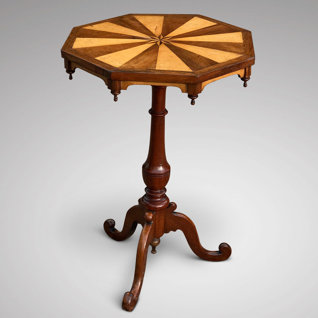 Victorian Octagonal Lamp Table - Main View - 1