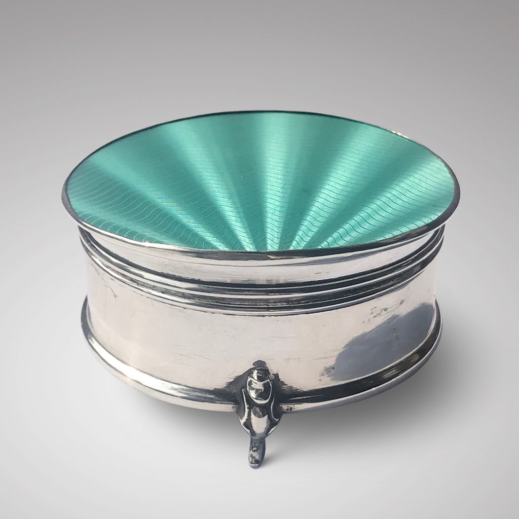 Silver & Enamel Jewellery Box - Main View -1