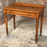 19th Century Golden Oak Writing Table - Front & Top View - 5