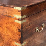 19th Century Camphor Campaign Trunk - Detail of Brassware 2