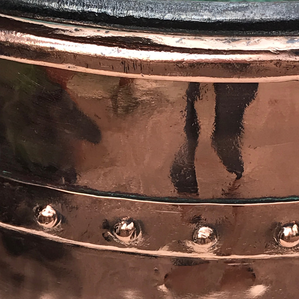 19th Century French Copper Log Bucket - Detail View - 5