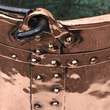 19th Century French Copper Log Bucket - Detail View - 4