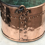 19th Century French Copper Log Bucket - Detail View - 3