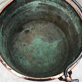 19th Century French Copper Log Bucket - Detail View - 9