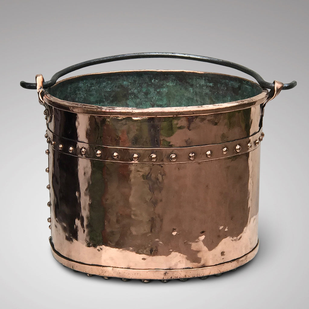 19th Century French Copper Log Bucket - Main View - 1