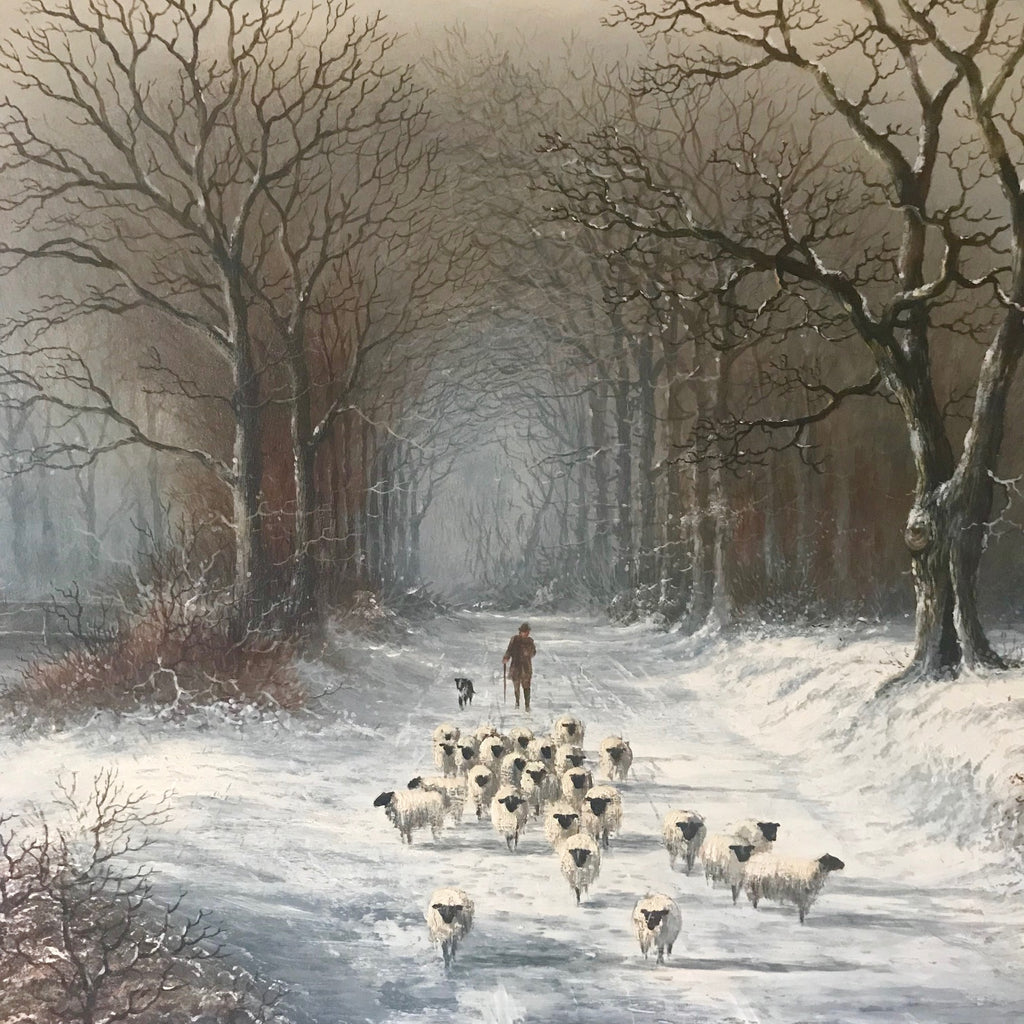 """The Journey Home"" Oil on Panel by Michael Matthews - Detail View - 2"