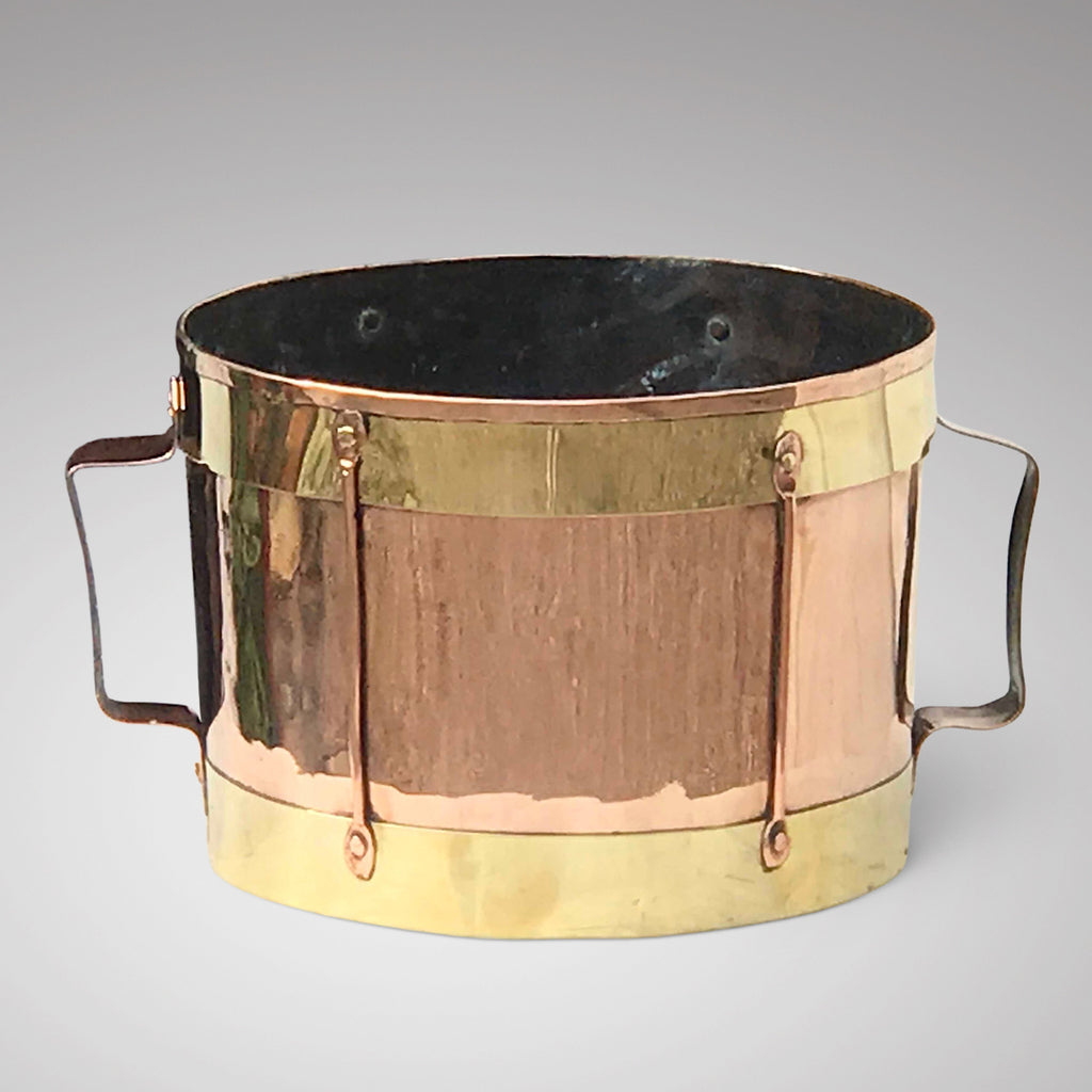 19th Century Arts & Crafts Twin Handled Copper Bin - Main View - 1