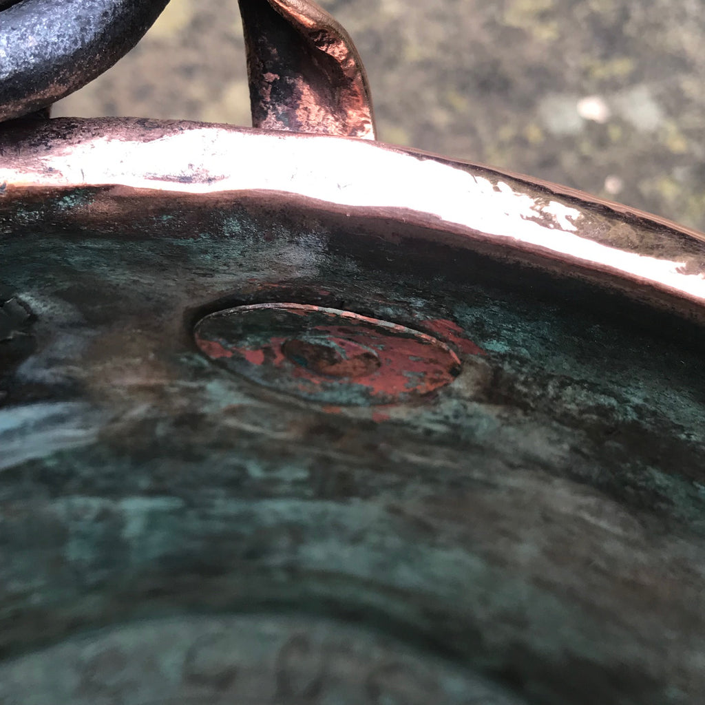 19th Century French Copper Log Bucket - Detail View - 7