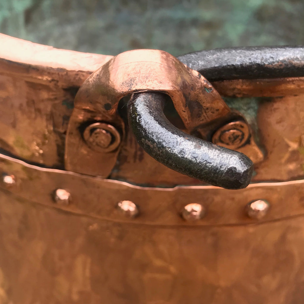 19th Century French Copper Log Bucket - Detail View - 6