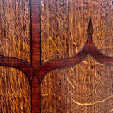 George III Bow Fronted Oak Corner Cupboard - Detail View - 3