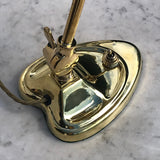 Antique Brass Desk Lamp with Heart Shaped Base - Detail View - 5