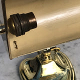 Antique Brass Desk Lamp with Heart Shaped Base - Detail View - 4