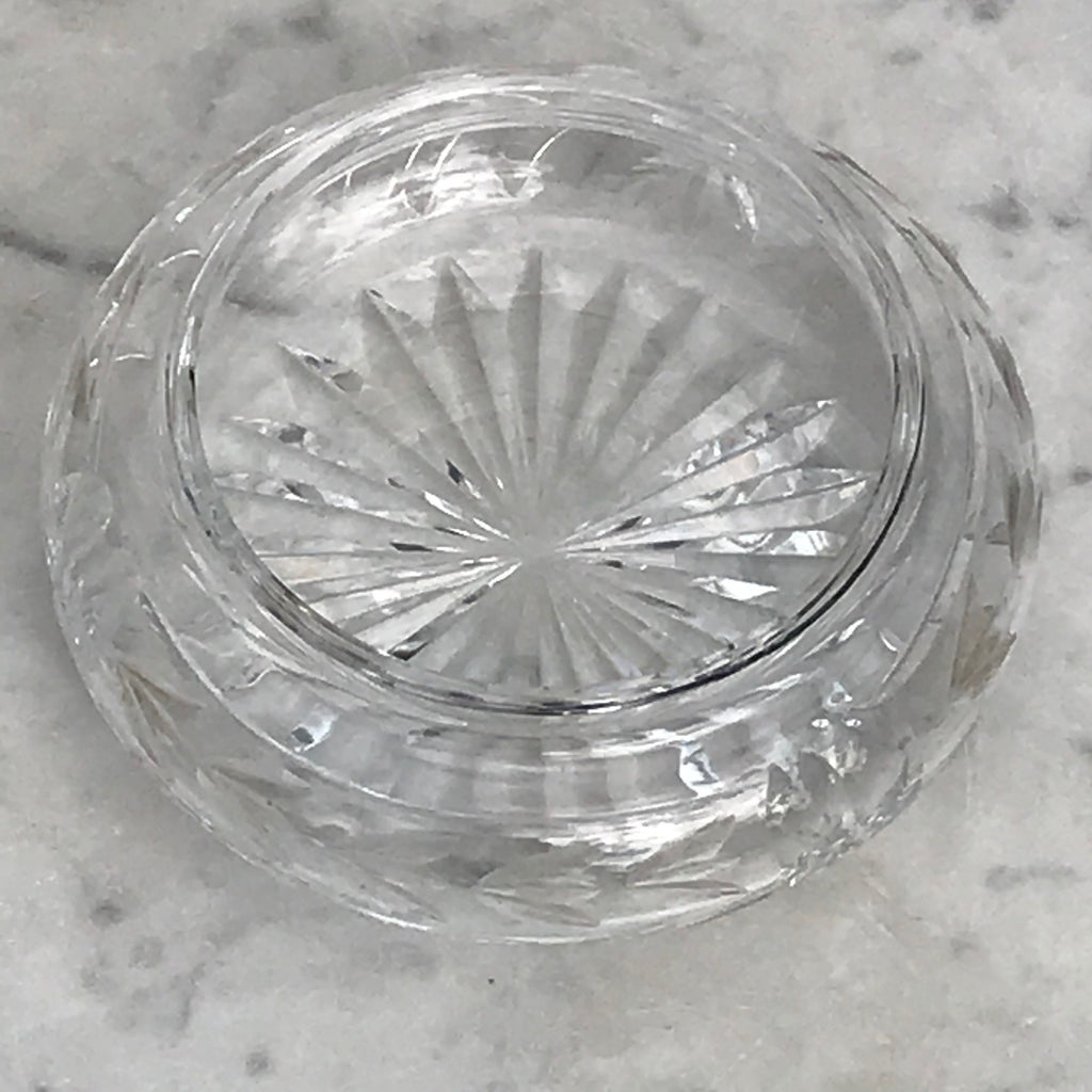 Webb Crystal Bowl with Silver & Enamel Top - Detail  View - 4