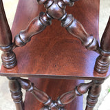Pair of 19th Century Mahogany Trellis Sided Wall Shelves - Trellis Detail - 6