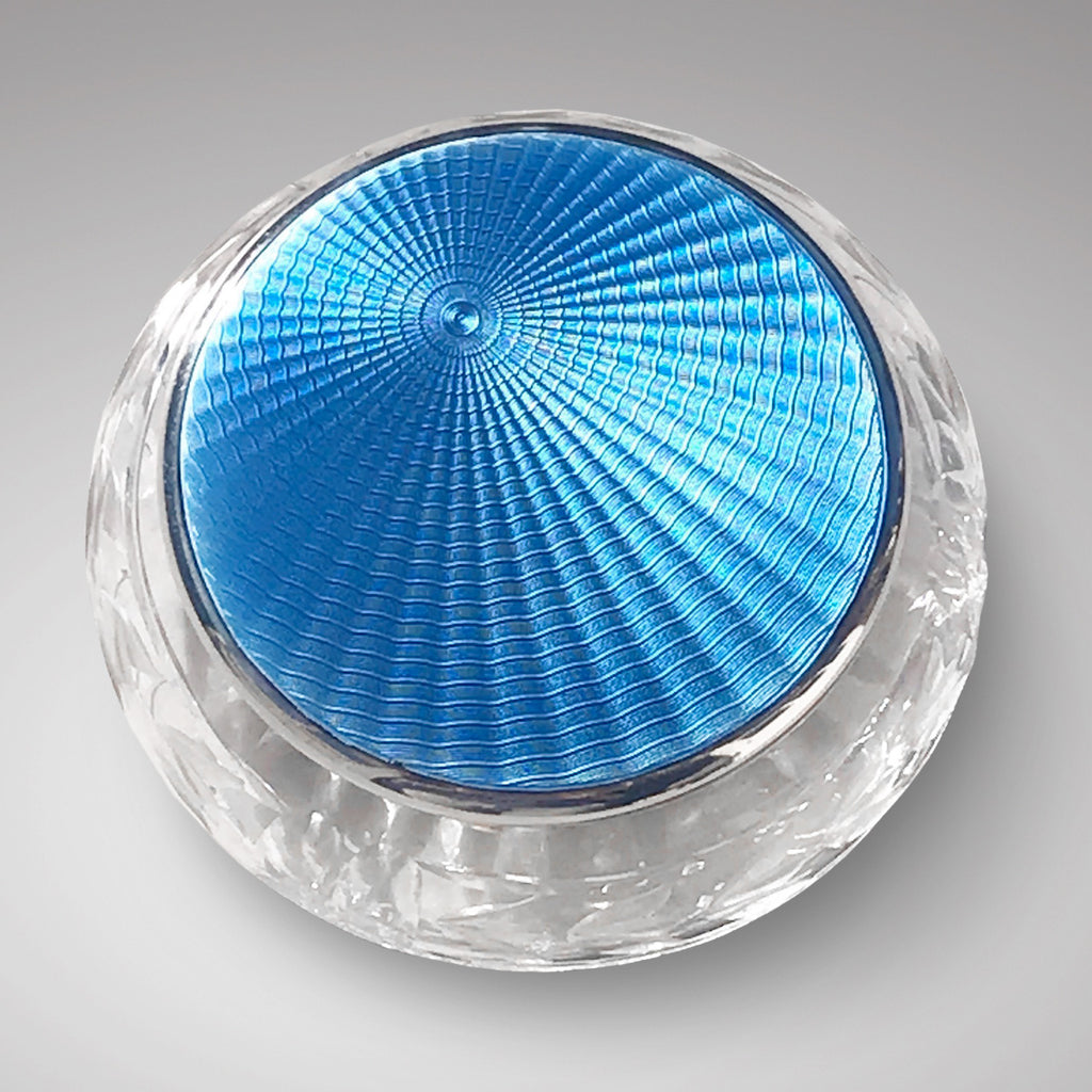 Webb Crystal Bowl with Silver & Enamel Top - Main View - 1