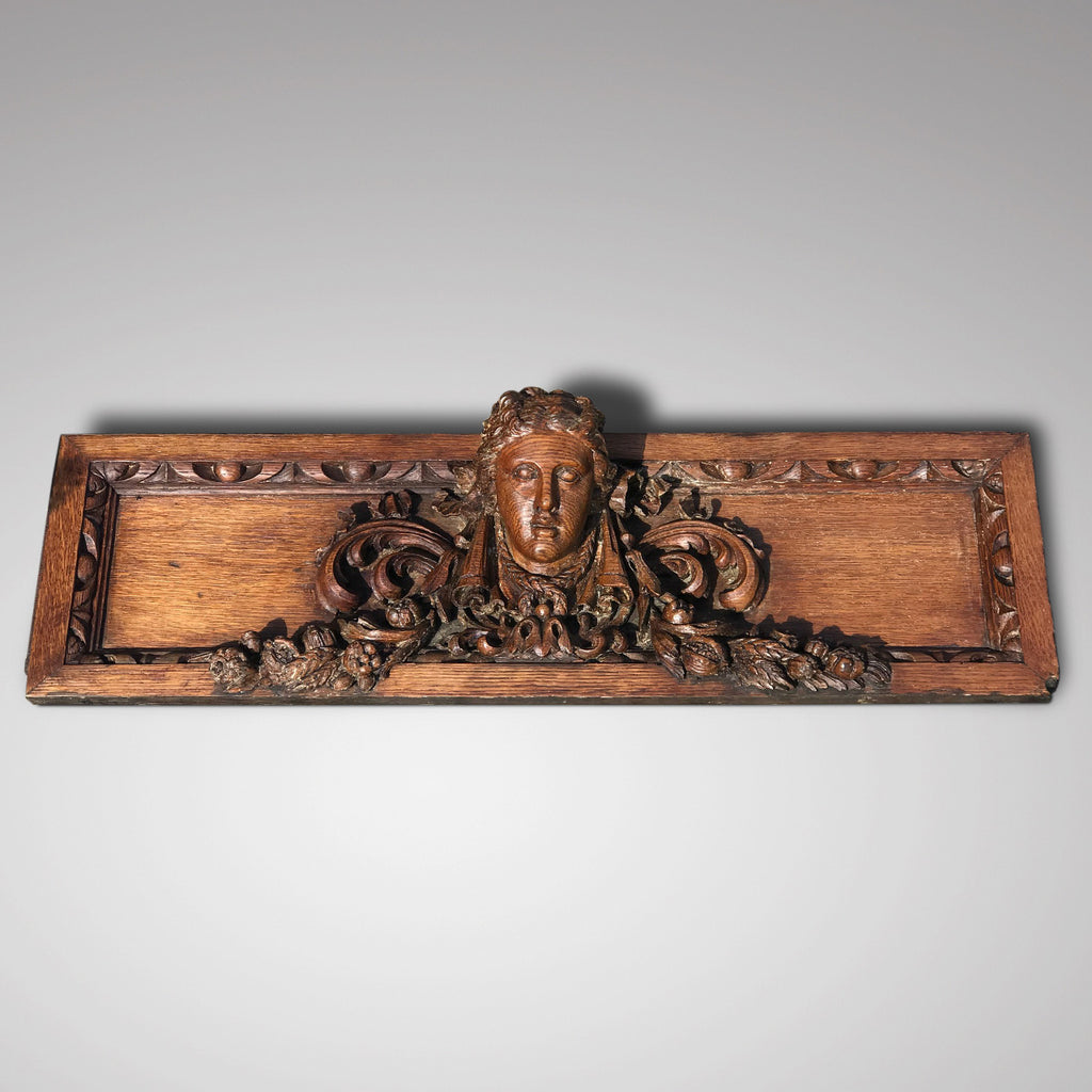 19th Century Carved Oak Pediment - Main View - 1