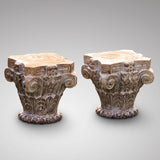 Pair of Late 20th Century Rajastan Carved Capitals - Main View - 1