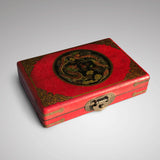 Chinese Abacus in Red Lacquered & Painted Box - Main View -1