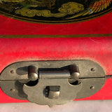 Chinese Abacus in Red Lacquered & Painted Box - Detail View - 10