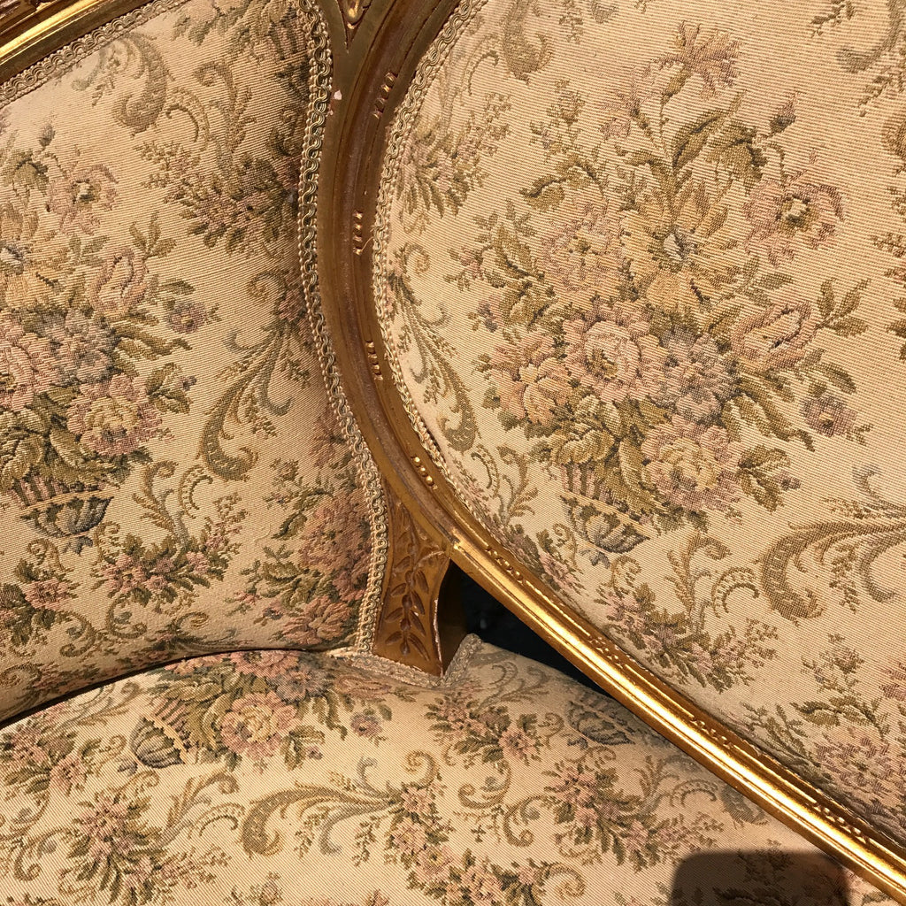 19th Century French Giltwood Salon Sofa - Detail of Frame & Seat - 3