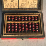 Chinese Abacus in Red Lacquered & Painted Box - Detail View - 3