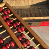Chinese Abacus in Red Lacquered & Painted Box - Detail View - 5