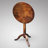 18th Century Tilt Top Walnut Tripod Table - Main View - 2