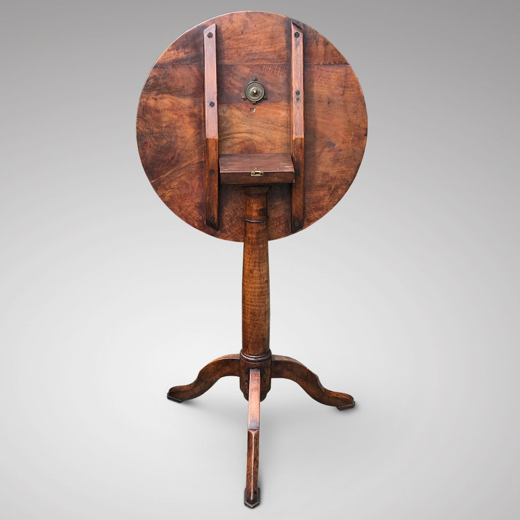 18th Century Tilt Top Walnut Tripod Table - Back View - 3