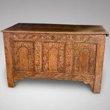 18th Century Welsh Carved Oak Coffer - Main View - 1