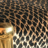 Art Deco Stool on Curved Brass Base - Detail of Velvet - 3