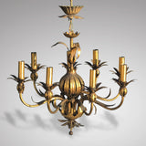 Italian Gilt Metal Pomegranate Chandelier - Main View - 1