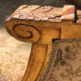 19th Century French Giltwood Salon Sofa - Arm Detail -8