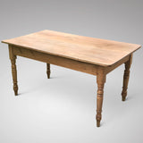 19th Century Pine Farmhouse Kitchen Table - Main View - 2