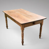 19th Century Pine Farmhouse Kitchen Table - Main View - 3