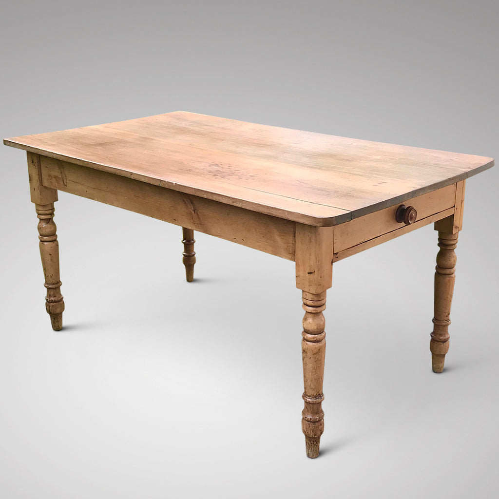 19th Century Pine Farmhouse Kitchen Table - Main View - 1