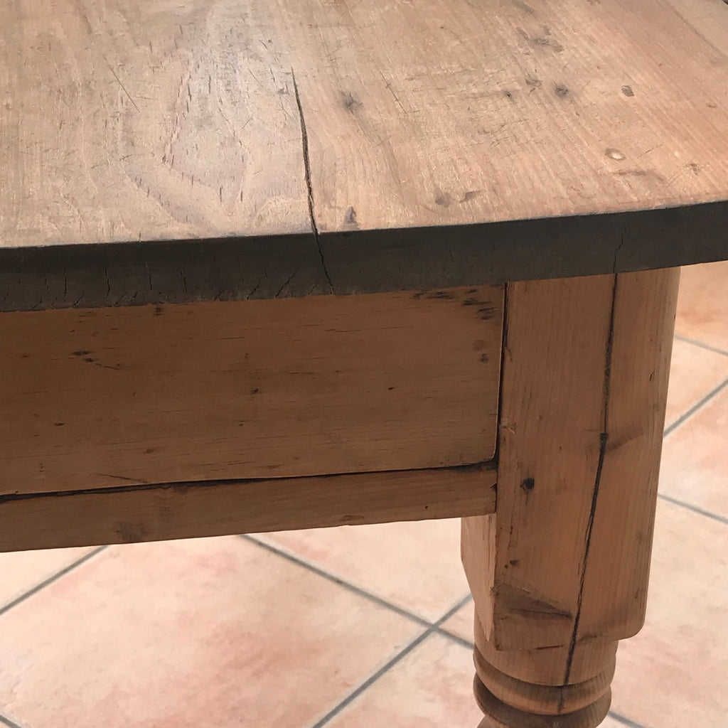 19th Century Pine Farmhouse Kitchen Table - Detail View - 5