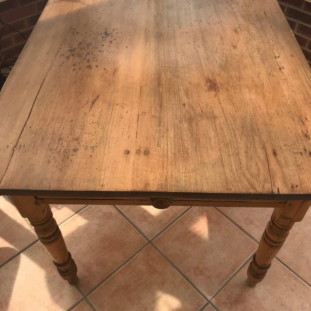 19th Century Pine Farmhouse Kitchen Table - Detail View - 6