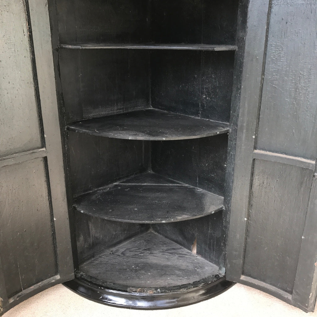 18th Century Japanned Corner Cupboard - Main Inside View - 8