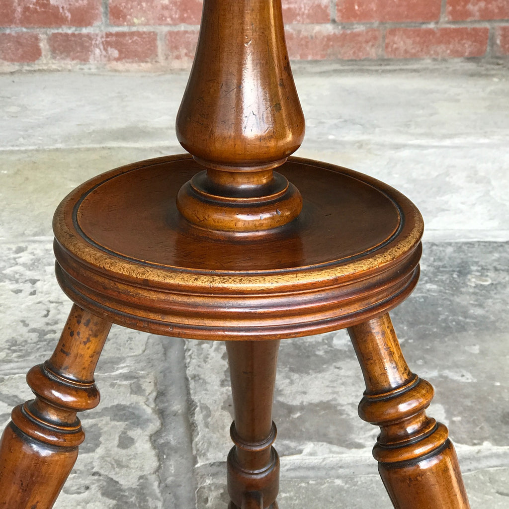 19th Century Walnut Turners Table - Pedestal View - 3