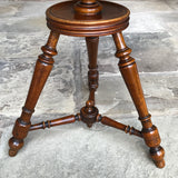 19th Century Walnut Turners Table - View of Base - 4