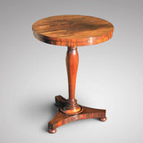 William IV Rosewood Circular Tilt Top Lamp Table - Main View - 1