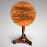 William IV Rosewood Circular Tilt Top Lamp Table - Main View Tilted  - 2